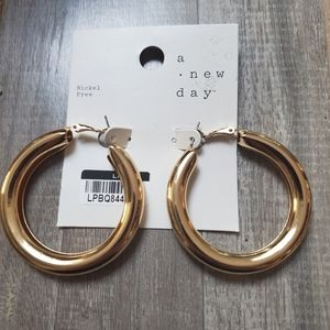 ⚓2 for $10⚓A NEW DAY gold hoop earrings